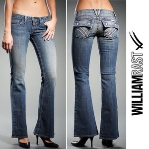 William Rast Belle Low Rise Flare Jeans, 26